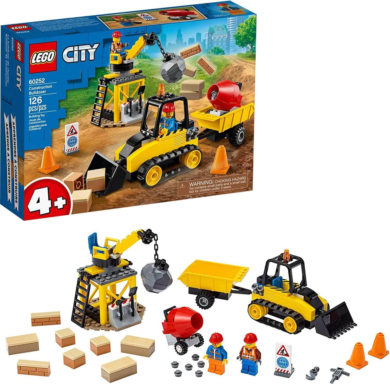 LEGO City 60252 Bulldozer de Construcción (126 piezas)
