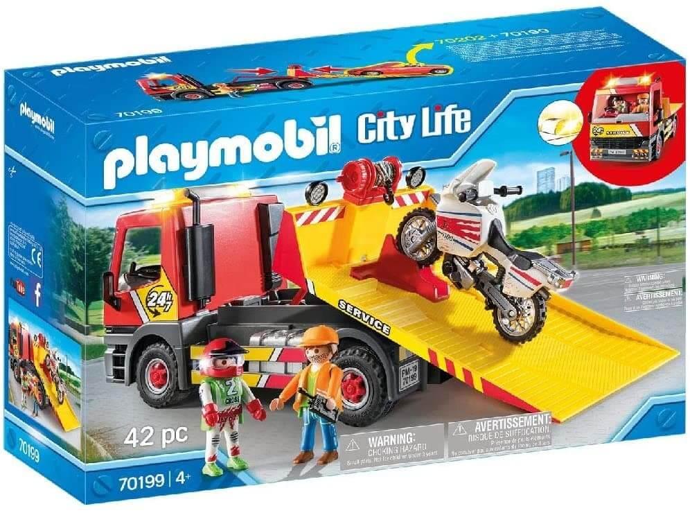 Playmobil Grúa Remolque, Multicolor