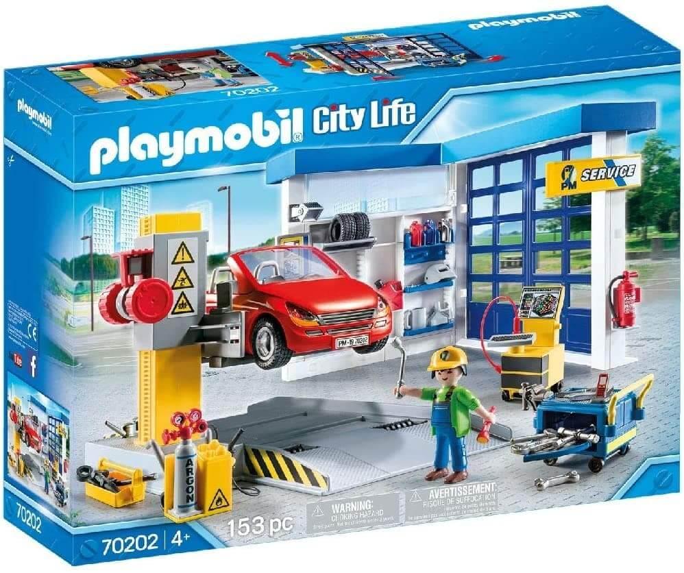 Playmobil Taller de Coches, Multicolor